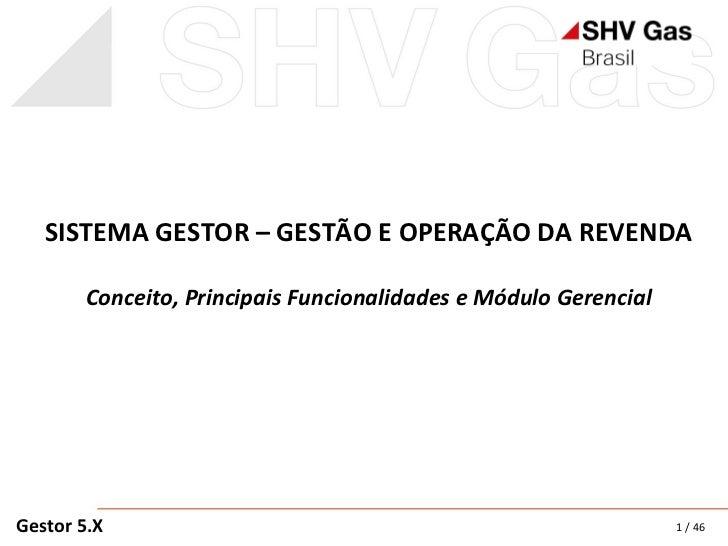 SISTEMA GESTOR – GESTÃO E OPERAÇÃO DA REVENDA Conceito, Principais Funcionalidades e Módulo Gerencial