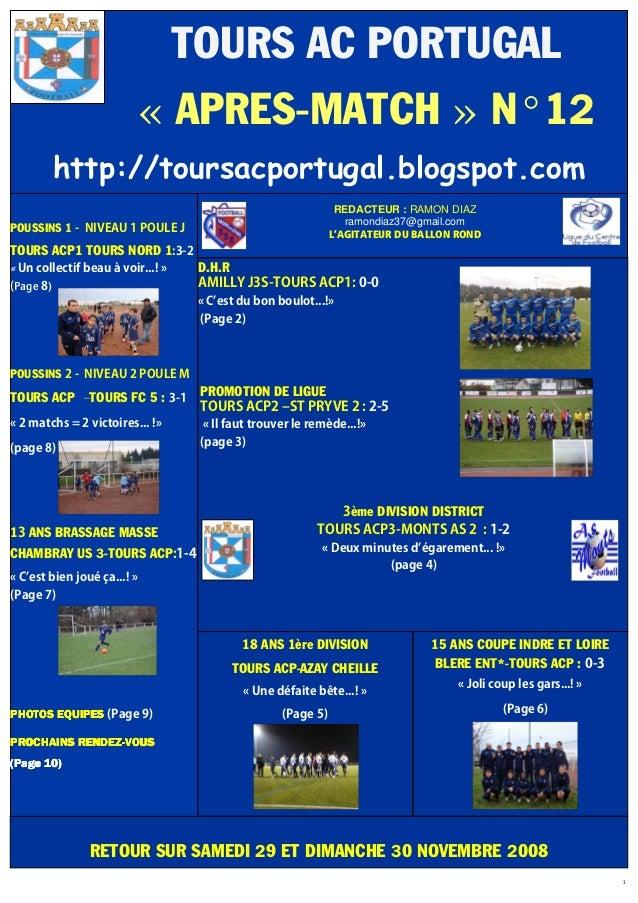 1 POUSSINS 1 - NIVEAU 1 POULE J TOURS ACP1 TOURS NORD 1:3-2 « Un collectif beau à voir...! » (Page 8) POUSSINS 2 - NIVEAU ...