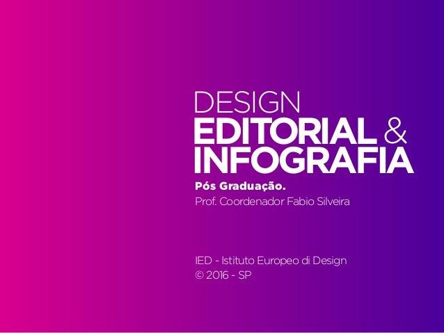Alinhamento de práticas. 2016.1 | IED | BR | SP | Prof. Fabio Silveira Design Editorial e Infografia | Pós Graduação1 Pós ...