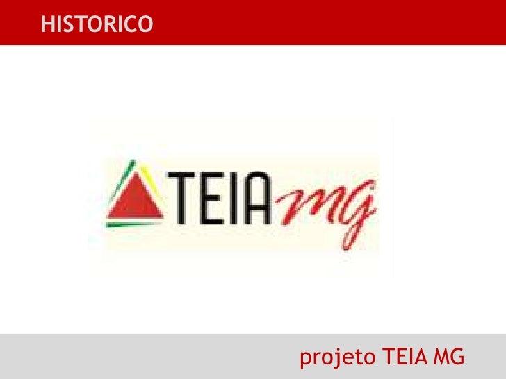 HISTORICO<br />projeto TEIA MG<br />