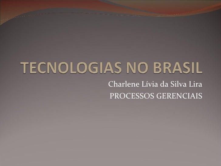 Charlene Lívia da Silva Lira PROCESSOS GERENCIAIS