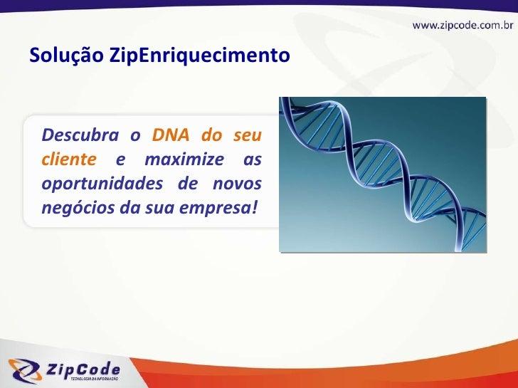 Descubra o  DNA do seu cliente  e maximize as oportunidades de novos negócios da sua empresa! Solução ZipEnriquecimento