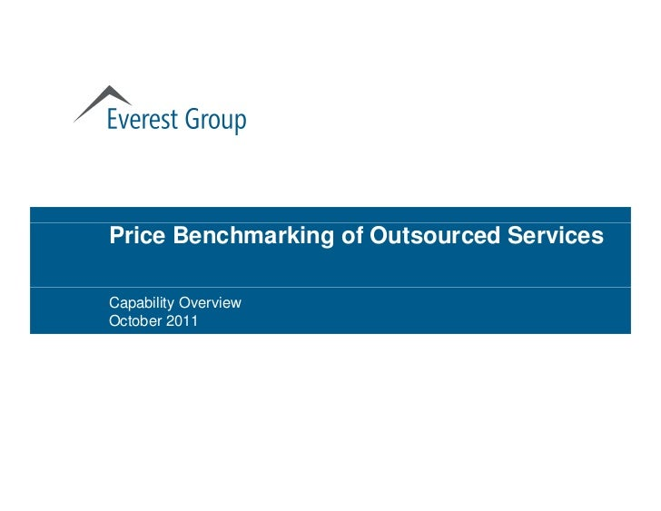 Price Benchmarking of Outsourced ServicesCapability OverviewOctober 2011