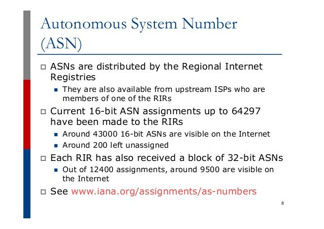 iana asn assignments