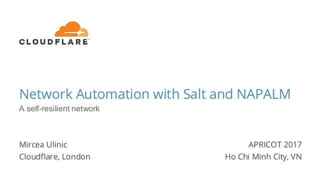 Network Automation with Salt and NAPALM: a self-resilient