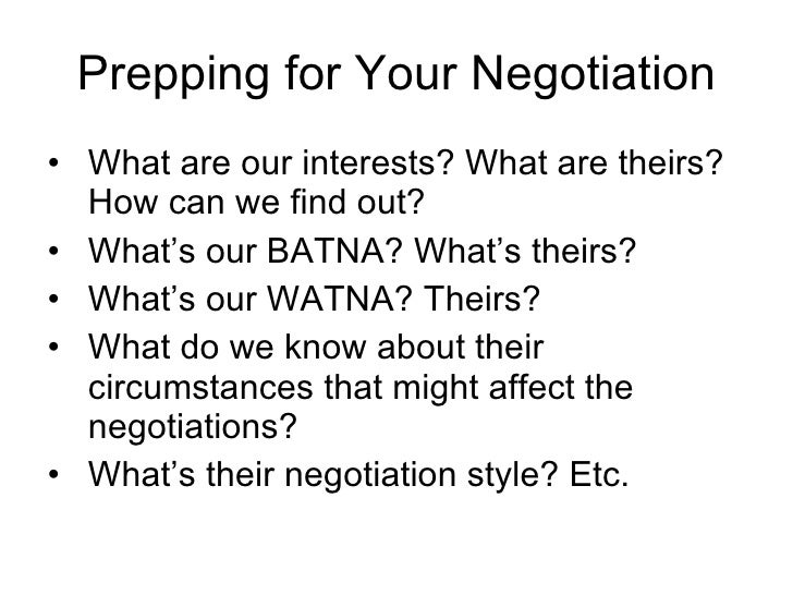 an example of conflict negotiation Each negotiation style deals with conflict differently these five styles are competing,  for example, if your company is in the midst of a crisis,.