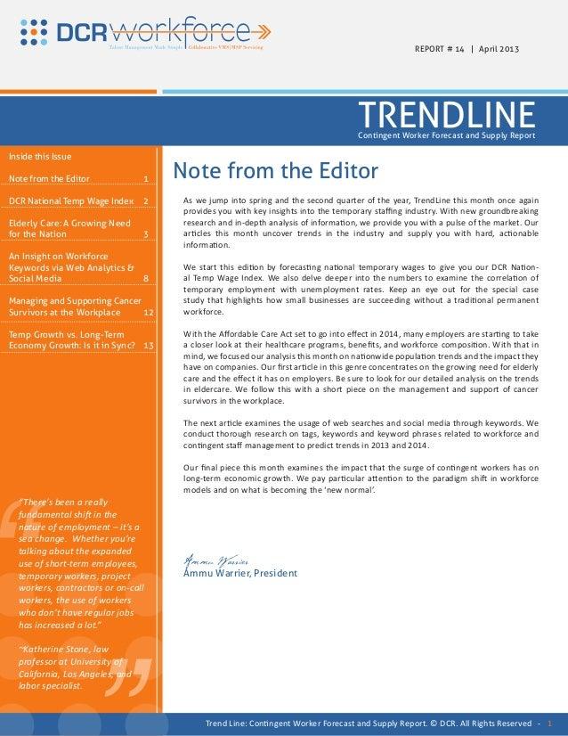 REPORT # 14 | April 2013                                                                                     TRENDLINE    ...