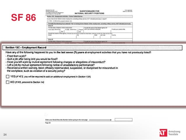 Worksheets Sf 86 Worksheet preventing personnel clearance issues sf 8624 25