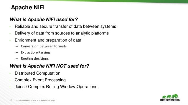Apache NiFi in the Hadoop Ecosystem