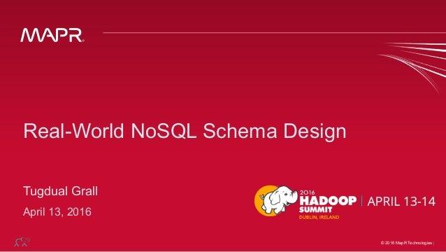 © 2015 MapR Technologies© 2016 MapR Technologies1 Real-World NoSQL Schema Design Tugdual Grall April 13, 2016