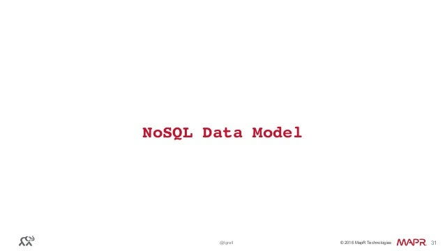 © 2016 MapR Technologies© 2016 MapR Technologies@tgrall 31 NoSQL Data Model