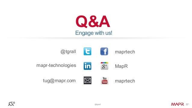 © 2016 MapR Technologies© 2016 MapR Technologies@tgrall 57 Q&A @tgrall maprtech tug@mapr.com Engage with us! MapR maprtech...