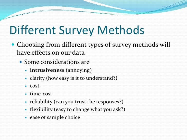 types of surveys methods april 14 performing research 8984