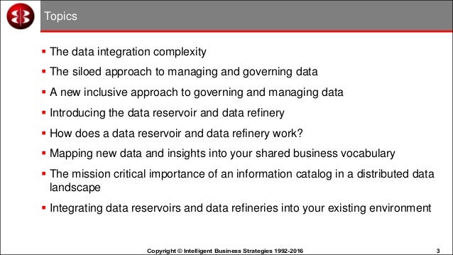 Organising the Data Lake - Information Management in a Big
