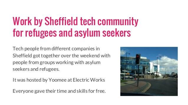 Report on Sheffield Hackathon For Refugees Slide 2