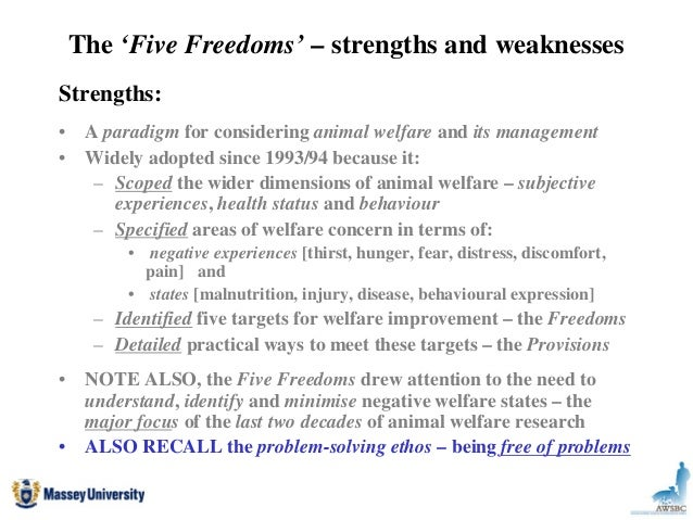Updating the 5 Freedoms - Moving Beyond the Five Freedoms Towards a L…