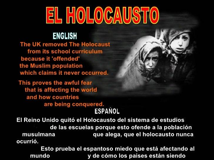 El Reino Unido quitó el Holocausto del sistema de estudios  de las escuelas porque esto ofende a la población musulmana  q...