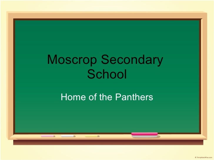 Moscrop Secondary  School Home of the Panthers