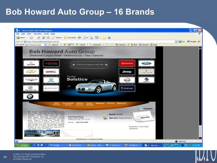 Bob Howard Auto Group >> Automotive Marketing Research Study By Dennis Galbraith