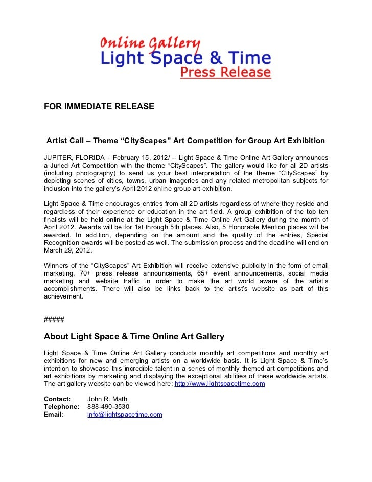 """Call for Artists - Theme """"CityScapes"""" Art Competition"""
