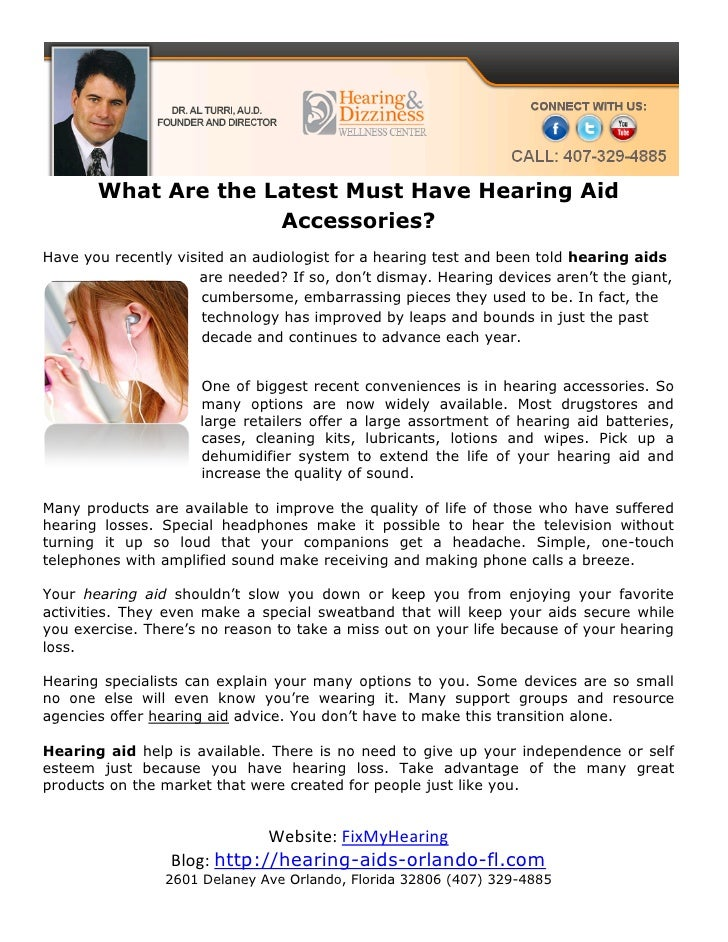 What Are the Latest Must Have Hearing Aid                     Accessories?Have you recently visited an audiologist for a h...