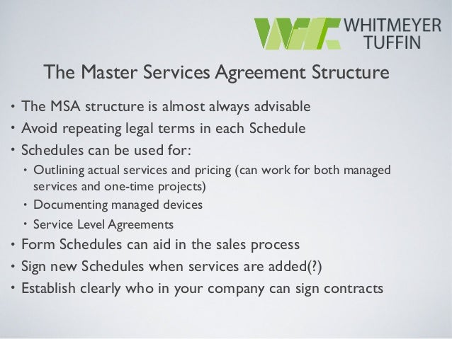 Managed Service Provider Contracts