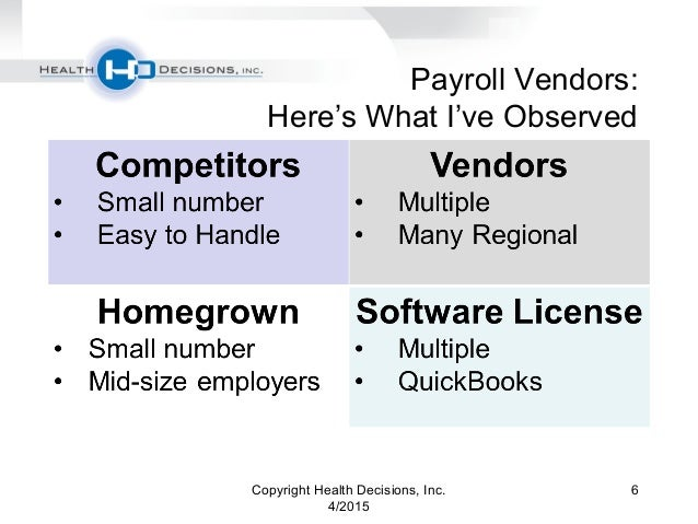 Health Decisions Webinar: Payroll Vendors and ACA Compliance - Compet…