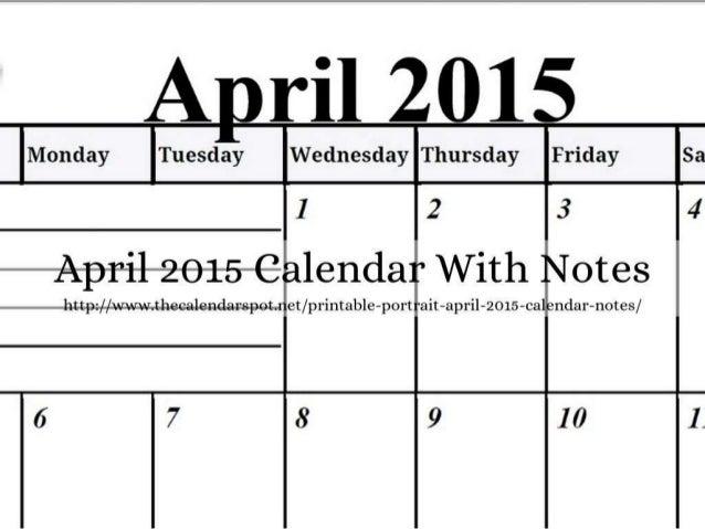 Calendar Spot April : April calendars