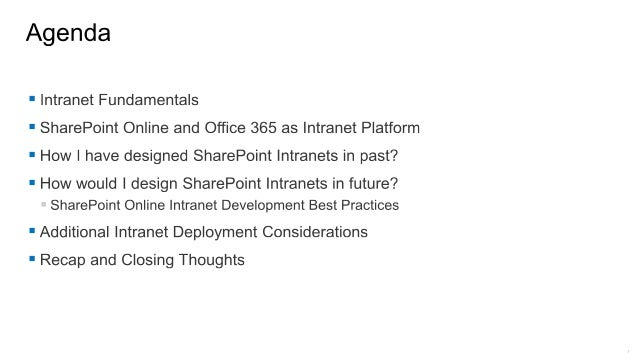 Cloud Saturday Chicago 2016 - Modern Intranet Development Best Practices on SharePoint Online and Office 365 Slide 3