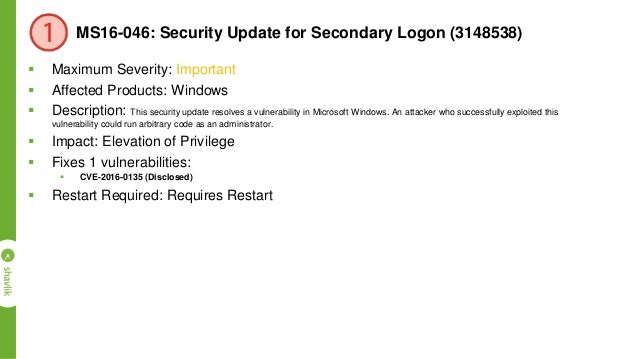 APSB16-10: Security updates available for Adobe Flash Player  Maximum Severity: Critical  Affected Products: Adobe Flash...