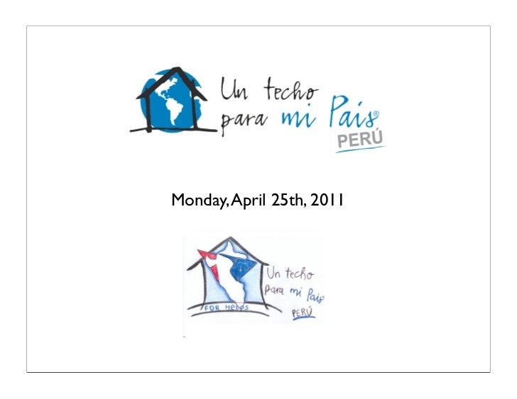 Monday, April 25th, 2011