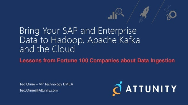 Bring Your SAP and Enterprise Data to Hadoop, Apache Kafka and the Cloud Lessons from Fortune 100 Companies about Data Ing...