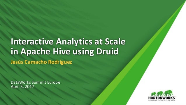 Interactive Analytics at Scale in Apache Hive Using Druid
