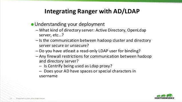 Best Practices for Enterprise User Management in Hadoop Environment