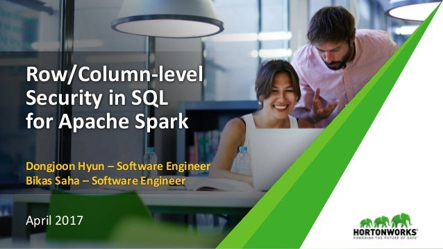 1 © Hortonworks Inc. 2011 – 2016. All Rights Reserved Row/Column-level Security in SQL for Apache Spark Dongjoon Hyun – So...