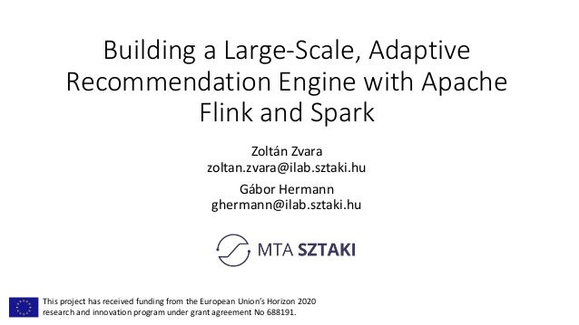 Building a Large-Scale, Adaptive Recommendation Engine with Apache Fl…