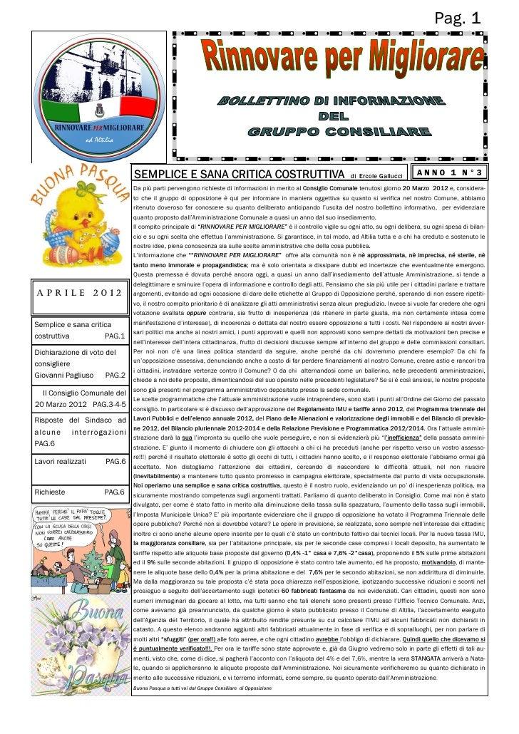 Pag. 1                              SEMPLICE E SANA CRITICA COSTRUTTIVA                                                di ...