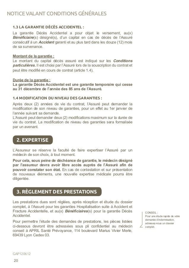 1.3 LA GARANTIE DÉCÈS ACCIDENTEL : La garantie Décès Accidentel a pour objet le versement, au(x) Bénéficiaire(s) désigné(s...