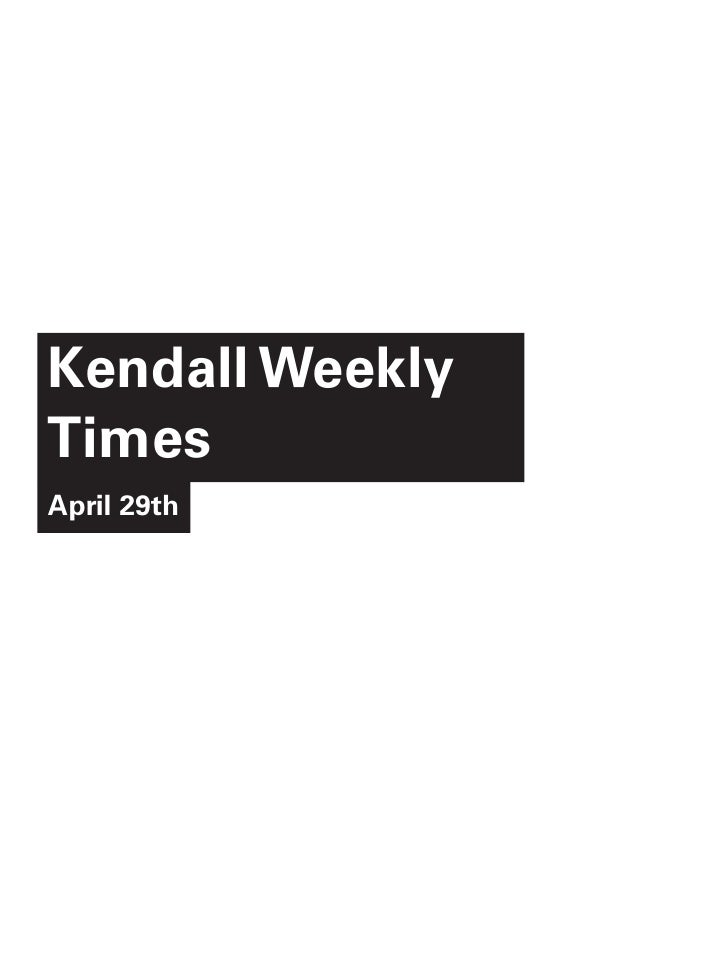 Kendall WeeklyTimesApril 29th