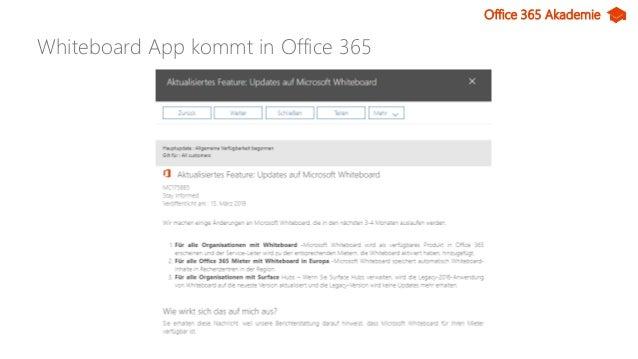 Office 365 Akademie News - April 19