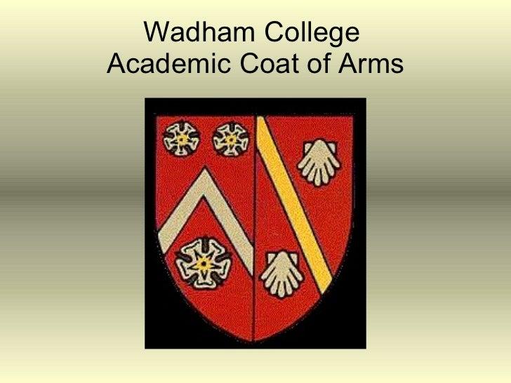 Wadham College  Academic Coat of Arms