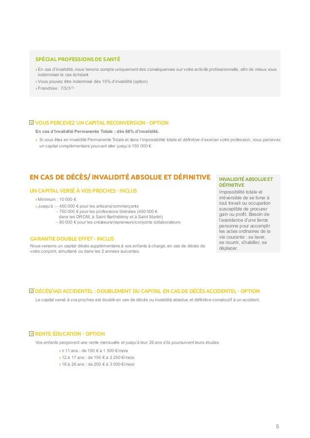 DÉCÈS/IAD ACCIDENTEL : DOUBLEMENT DU CAPITAL EN CAS DE DÉCÈS ACCIDENTEL - OPTION Le capital versé à vos proches est doublé...