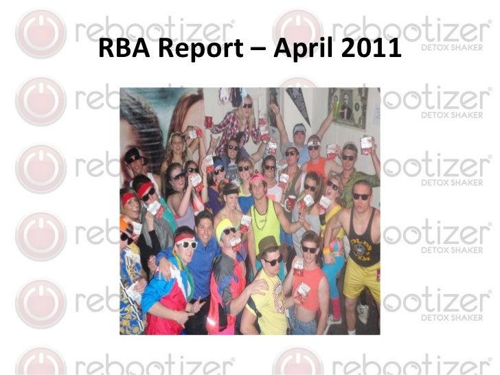 RBA Report – April 2011
