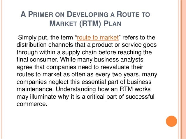 Route to market business plan