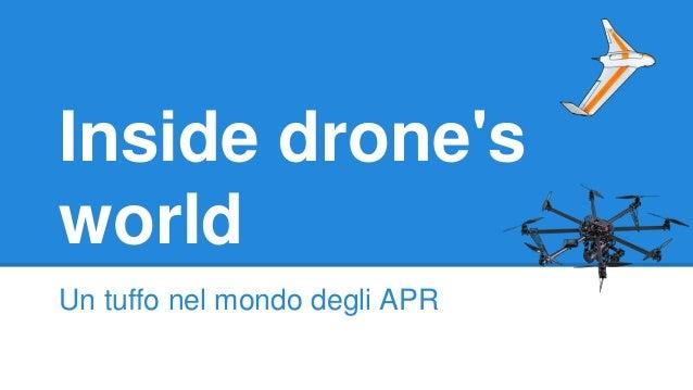 Inside drone's world Un tuffo nel mondo degli APR