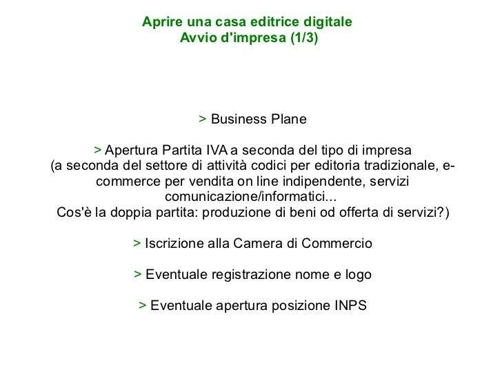 >  Business Plane >  Apertura Partita IVA a seconda del tipo di impresa (a seconda del settore di attività codici per edit...
