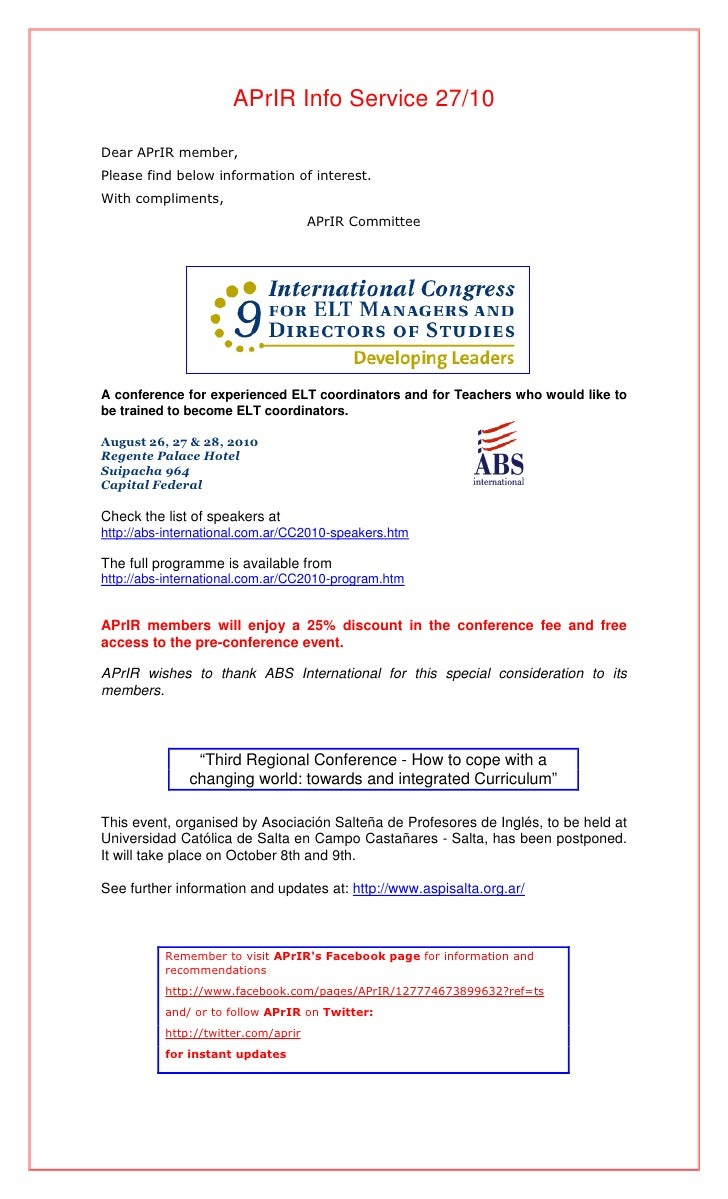 APrIR Info Service 27/10  Dear APrIR member, Please find below information of interest. With compliments,                 ...