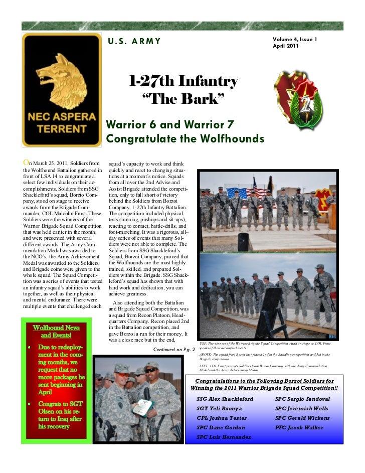 U. S . A R M Y                                                                               Volume 4, Issue 1            ...
