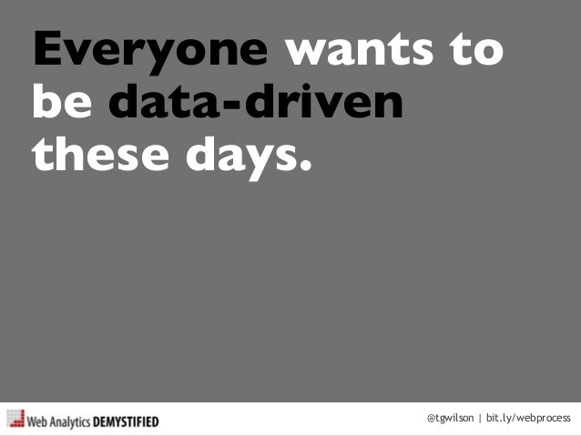 A Process for Being Data Driven Slide 3