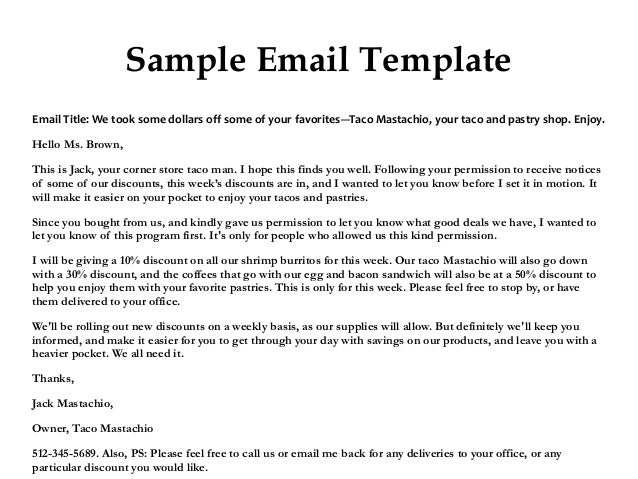 sample thank you email